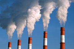 Factory fumes Stock Photography