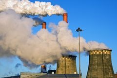 Factory fumes Royalty Free Stock Image