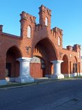 Factory gate. Polish industrial monuments Stock Images