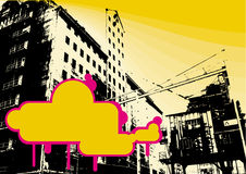 Factory grunge background. This picture illustrate old factory with a text place for your event vector illustration