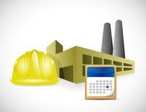 Factory helmet and calendar illustration design Stock Photos