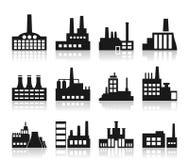 Factory icon Stock Photos