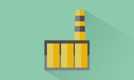 Factory. Icon factory flat design Royalty Free Stock Photography
