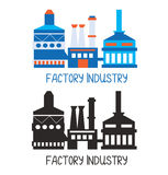Factory icon for logo or design element Stock Image
