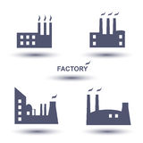 Factory icon set Stock Photos