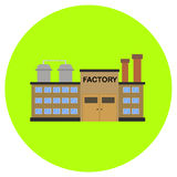 Factory icon in trendy flat style isolated on grey background. Building symbol for your design, logo, UI. Vector illustration, EPS Stock Photo