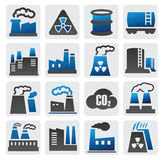Factory Icons Stock Image