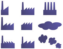 Factory icons Stock Photos