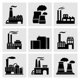 Factory icons Royalty Free Stock Images