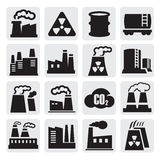 Factory icons set Stock Photo