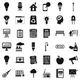 Factory icons set, simple style. Factory icons set. Simple style of 36 factory vector icons for web isolated on white background Royalty Free Stock Photography