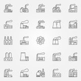 Factory icons set Stock Photography