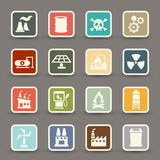 Factory icons vector Royalty Free Stock Images