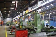 Factory indoor. Iron works steel and machine parts modern factory indoor hall Stock Photo
