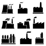Factory and industrial buildings. Factory, plant and industrial buildings Royalty Free Stock Image
