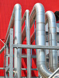 Factory industrial pipes Royalty Free Stock Photography