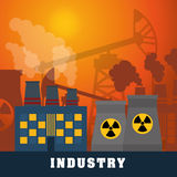 Factory,industry and business design Stock Images