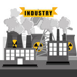 Factory,industry and business design Royalty Free Stock Image