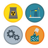 Factory,industry and business design Stock Photography