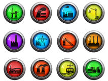Factory and Industry icons set Stock Photo