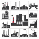 Factory and Industry. Icons. Vector set stock illustration