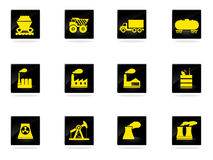 Factory and Industry Symbols Stock Image