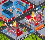 Factory Infrastructure Isometric Stock Photography