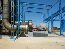 Factory installation. In the chemical industry Royalty Free Stock Photo
