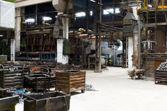 Factory interiors. The interiors of a factory Royalty Free Stock Photos