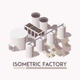 Factory Isometric Set Stock Image