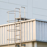Factory ladder on the roof Royalty Free Stock Images