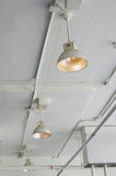 Factory lamps Royalty Free Stock Image