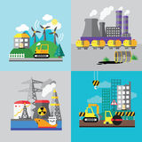 Factory landscape, Ecology Concept Royalty Free Stock Photos