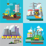 Factory landscape, Ecology Concept Royalty Free Stock Photography