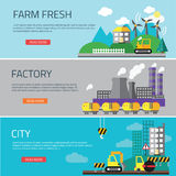 Factory landscape, Ecology Concept Stock Image
