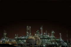 Factory lighting. View of industrial factory in the background of the night Stock Images