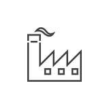 Factory line icon, industry outline logo illustration, li. Near pictogram isolated on white royalty free illustration