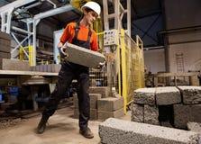 Factory loader at work Royalty Free Stock Photos