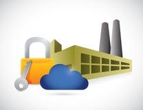 Factory lock storage concept illustration Royalty Free Stock Photo
