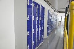 Factory Locker Room Stock Photo