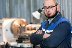 Factory man turner worker Stock Photo