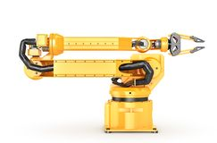 Factory manipulator. Automatic hand for conveyor. 3d illustration Stock Photos