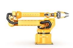 Factory manipulator. Automatic hand for conveyor. 3d illustration Stock Photo