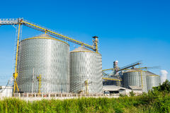 Factory manufacture animal feed with blue sky Royalty Free Stock Photography