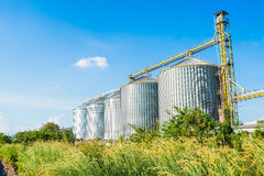 Factory manufacture animal feed with blue sky Stock Photography