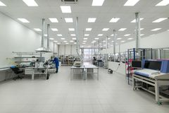 Factory for the manufacture of electronic printed circuit boards. Zelenograd, Russia - October 19, 2017: Factory for the manufacture of electronic printed Stock Photos