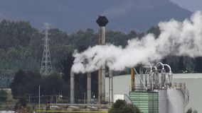 Factory, Manufacturing, Industrial, Pollution stock video