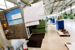 Factory equipped with cnc machines Royalty Free Stock Photo