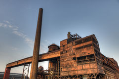 Factory for manufacturing of pig-iron, Ostrava, Czech Republic Royalty Free Stock Photo
