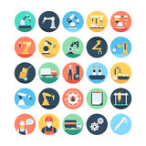 Factory Manufacturing Production Vector Icons 1 Stock Photography
